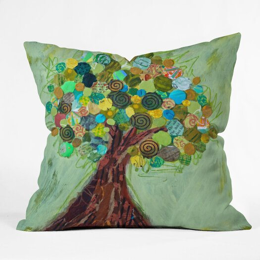 DENY Designs Elizabeth St Hilaire Nelson Spring Tree Throw Pillow