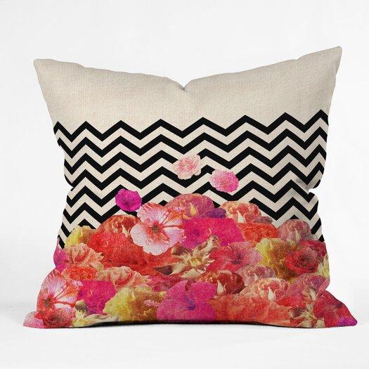 DENY Designs Bianca Green Chevron Flora 2 Throw Pillow