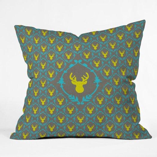DENY Designs Bianca Green Oh Deer 3 Throw Pillow