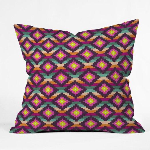 DENY Designs Bianca Green Aztec Diamonds Hammock Throw Pillow