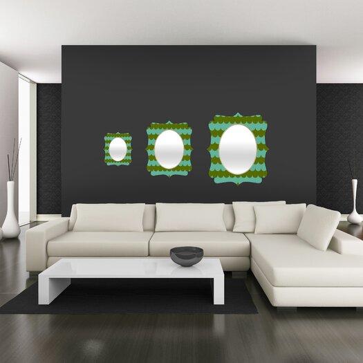 DENY Designs Holli Zollinger Waves of Color Quatrefoil Mirror