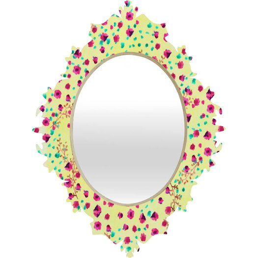 DENY Designs Joy Laforme Wind Swept Floral Wall Mirror