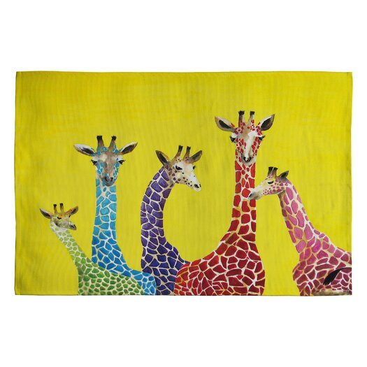 DENY Designs Clara Nilles Jellybean Giraffes Area Rug