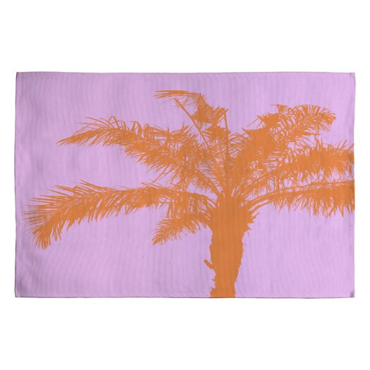DENY Designs Deb Haugen Orange Palm Novelty Rug