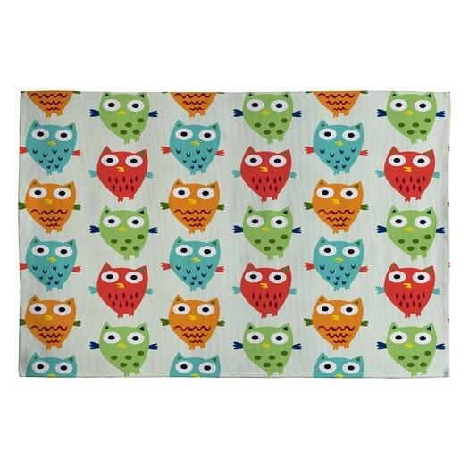 DENY Designs Andi Bird Owl Fun Kids Rug