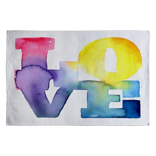DENY Designs CMYKaren Love 4 Novelty Rug