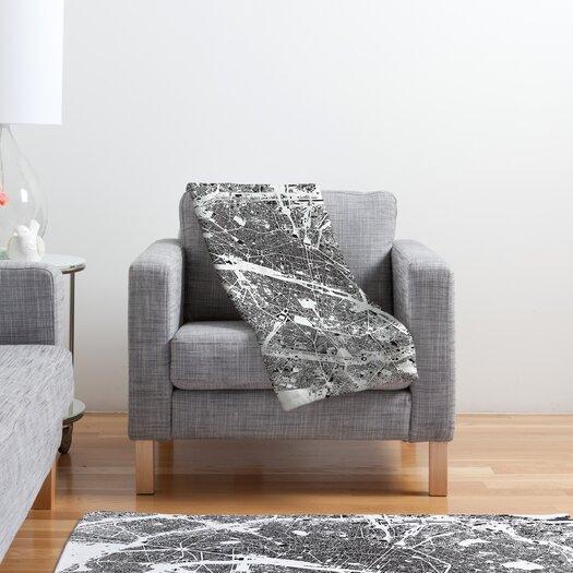 DENY Designs CityFabric Inc Paris Throw Blanket