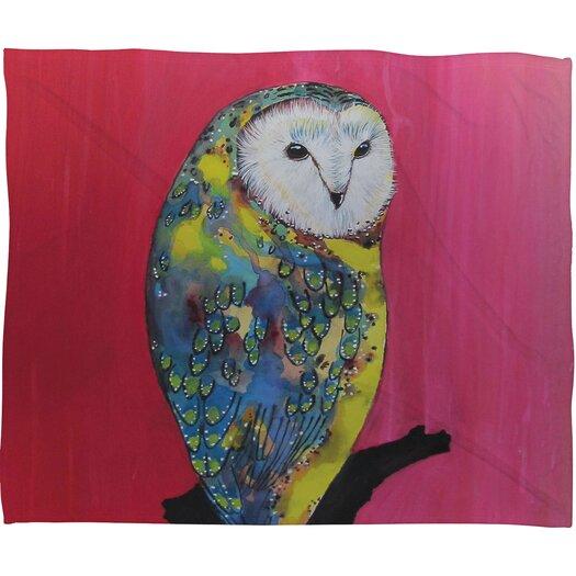 DENY Designs Clara Nilles Owl On Lipstick Throw Blanket