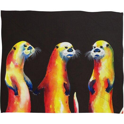 DENY Designs Clara Nilles Flaming Otters Throw Blanket