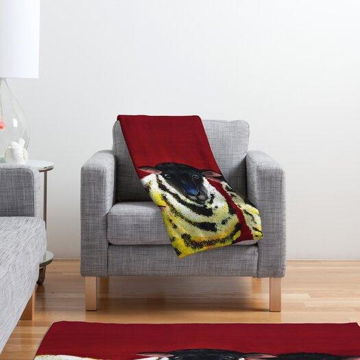 DENY Designs Clara Nilles Lemon Spongecake Sheep Throw Blanket
