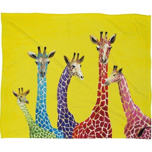 DENY Designs Clara Nilles Jellybean Giraffes Throw Blanket