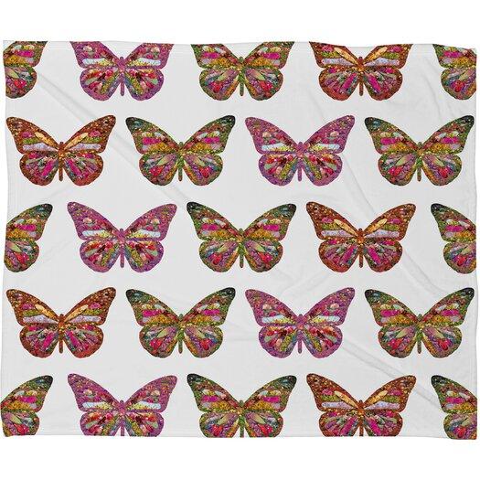 DENY Designs Bianca Green Butterflies Fly Throw Blanket