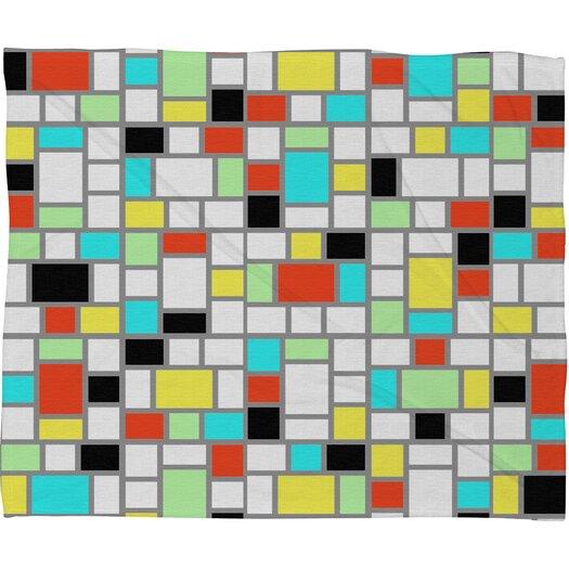 DENY Designs Jacqueline Maldonado Geo Square Throw Blanket