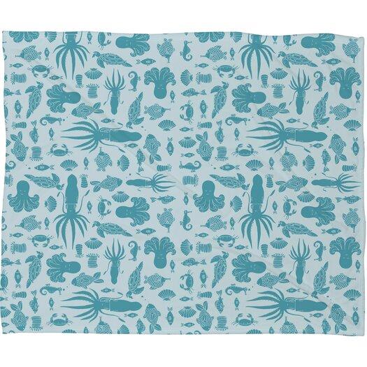 DENY Designs Jennifer Denty Sea Creatures Throw Blanket