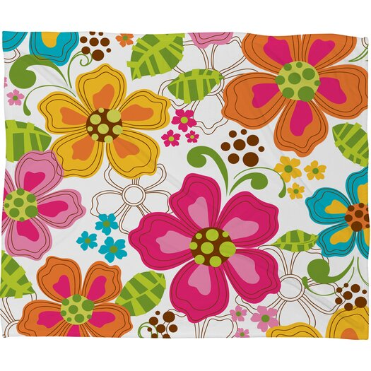 DENY Designs Khristian A Howell Kaui Blooms Throw Blanket