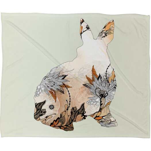 DENY Designs Iveta Abolina Little Rabbit Throw Blanket