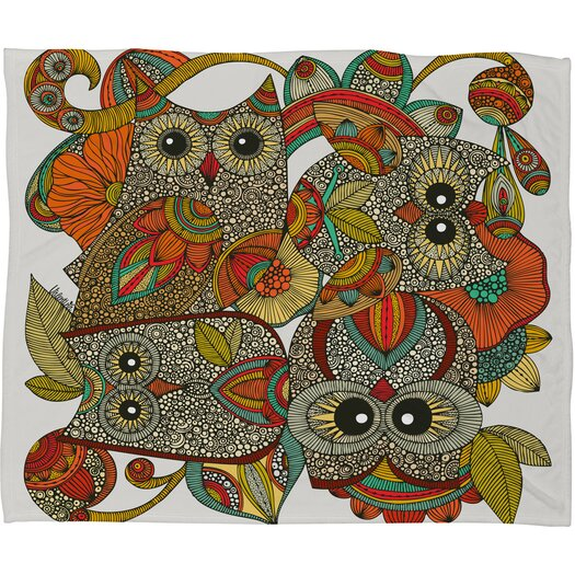 DENY Designs Valentina Ramos 4 Owls Throw Blanket