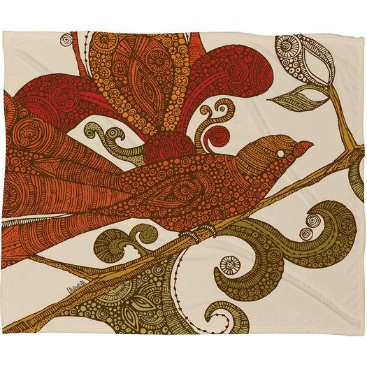DENY Designs Valentina Ramos The Orange Bird Throw Blanket