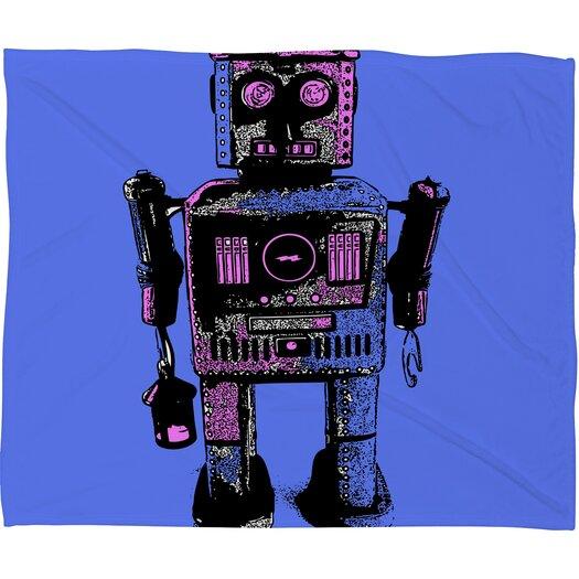 DENY Designs Romi Vega Lantern Robot Throw Blanket