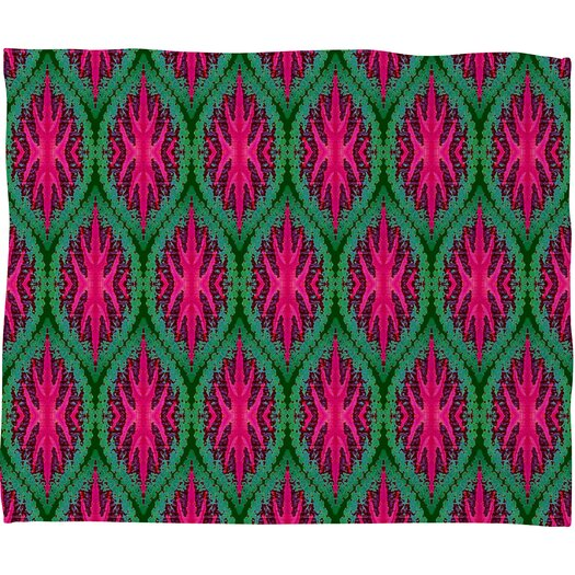 DENY Designs Wagner Campelo Ikat Leaves Throw Blanket