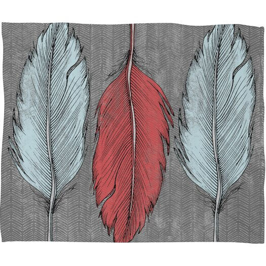 DENY Designs Wesley Bird Feathered Throw Blanket
