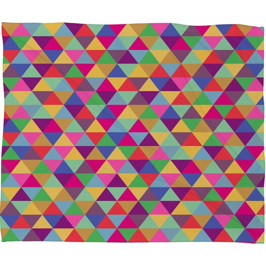 DENY Designs Bianca Green in Love with Triangles Throw Blanket