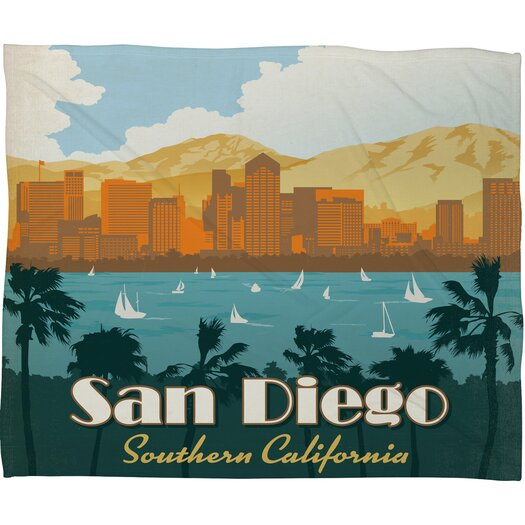 DENY Designs Anderson Design Group San Diego Throw Blanket