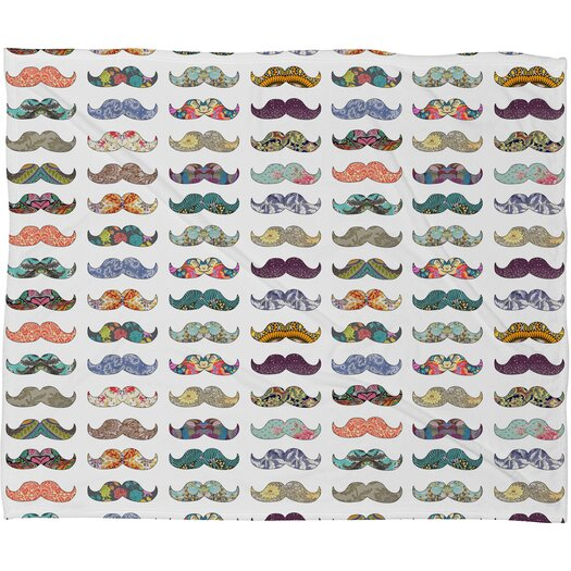DENY Designs Bianca Green Mustache Mania Throw Blanket