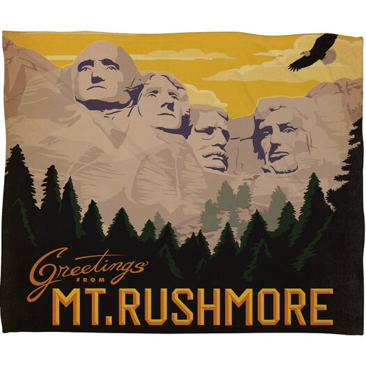 DENY Designs Anderson Design Group Nount Rushmore Throw Blanket