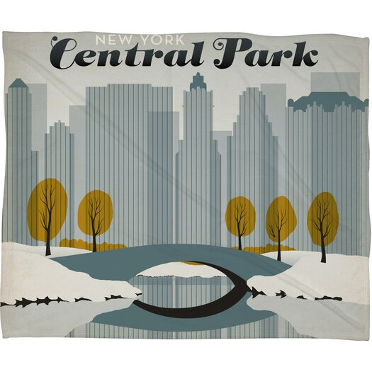 DENY Designs Anderson Design Group Central Park Snow Throw Blanket