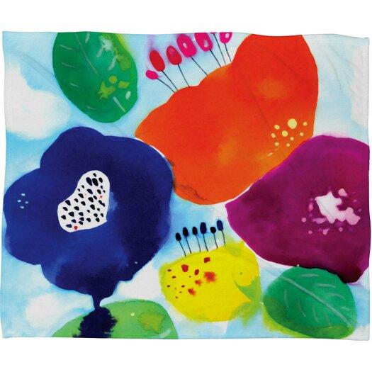 DENY Designs CayenaBlanca Big Flowers Throw Blanket