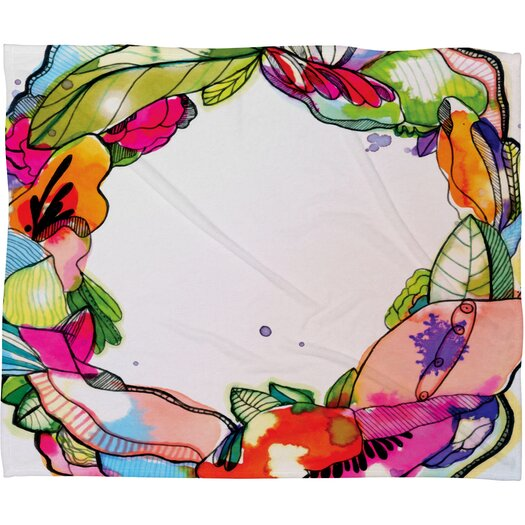DENY Designs CayenaBlanca Floral Frame Throw Blanket