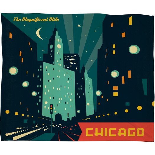 DENY Designs Anderson Design Group Chicago Mag Mile Throw Blanket