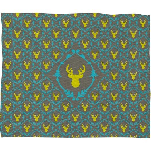 DENY Designs Bianca Green Oh Deer 3 Throw Blanket