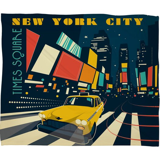 DENY Designs Anderson Design Group NYC Times Square Throw Blanket