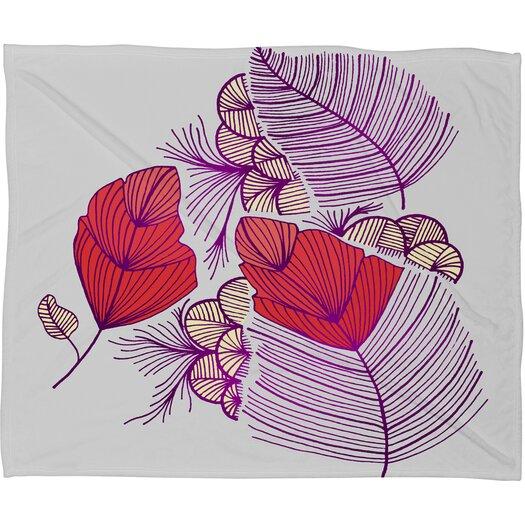 DENY Designs Gabi Sea Leaves Throw Blanket