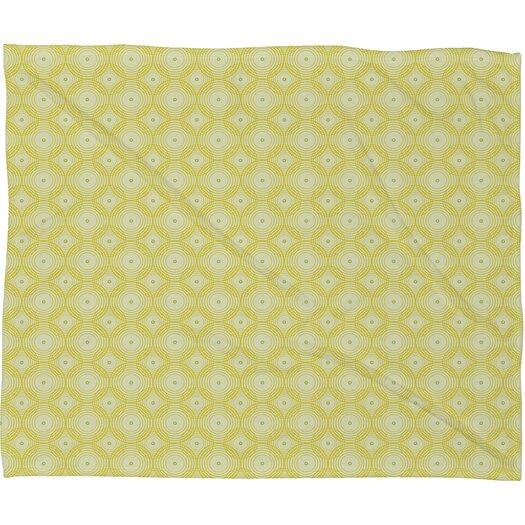 DENY Designs Caroline Okun Yellow Spirals Throw Blanket