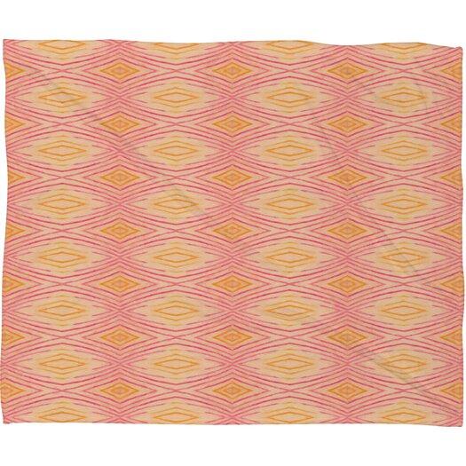 DENY Designs Cori Dantini Orange Ikat 4 Throw Blanket