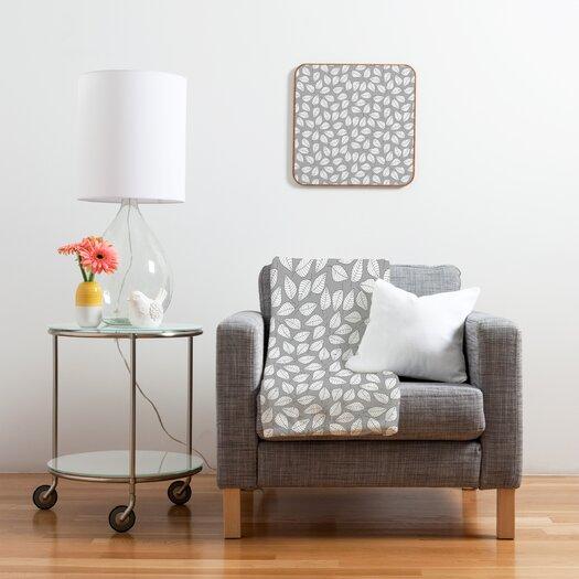 DENY Designs Bianca Green Leafy Throw Blanket