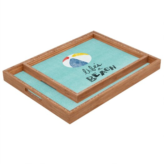 DENY Designs Nick Nelson Lifes A Beach Rectangular Tray