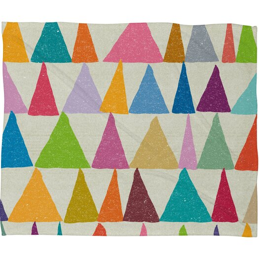 DENY Designs Nick Nelson Analogous Shapes in Bloom Fleece Throw Blanket