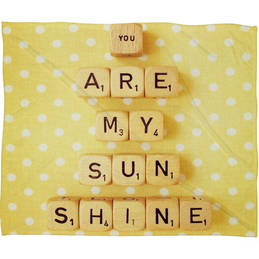 DENY Designs Happee Monkee You Are My Sunshine Throw Blanket