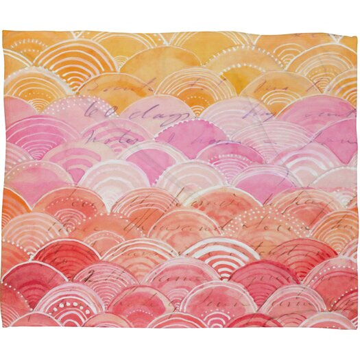 DENY Designs Cori Dantini Warm Spectrum Rainbow Throw Blanket