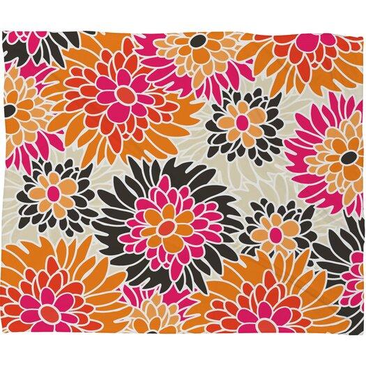DENY Designs Andrea Victoria Summer Tango Floral Throw Blanket