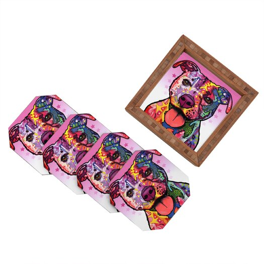 DENY Designs Dean Russo Cherish The Pitbull Coaster