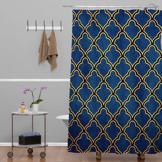 Deny designs arcturus quatrefoil shower curtain allmodern for Quatrefoil bathroom decor