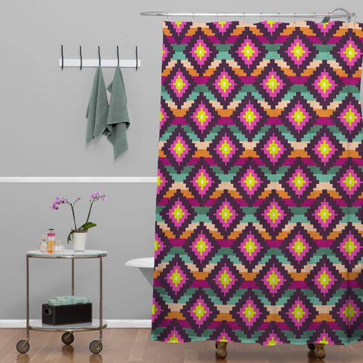 DENY Designs Bianca Green Woven Aztec Diamonds Hammock Shower Curtain
