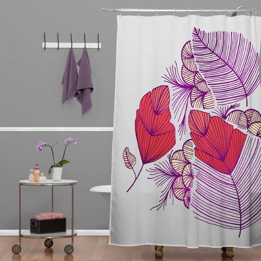 DENY Designs Gabi Sea Leaves Shower Curtain