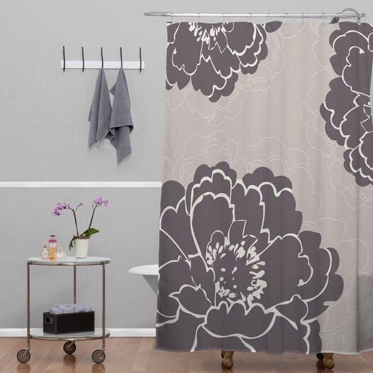DENY Designs Caroline Okun Winter Peony Shower Curtain