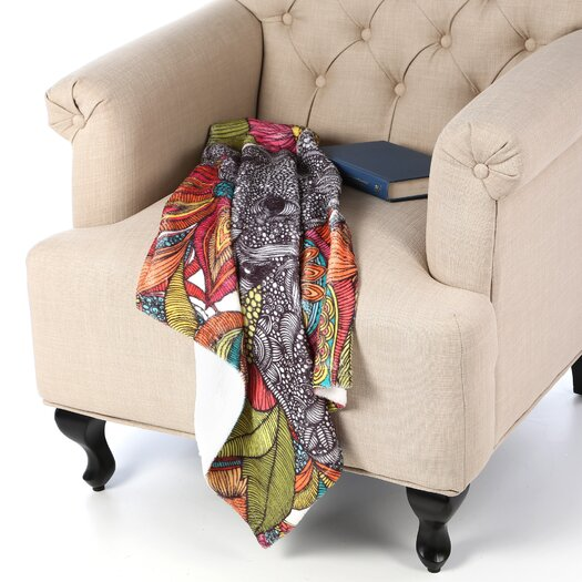 DENY Designs Valentina Ramos Arabella and The Flowers Throw Blanket